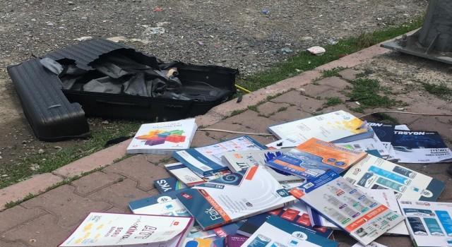 Fünye ile patlatılan valizden 'kitap çıktı