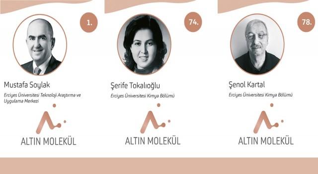 Turkishtimeın Kimya Bilimine Yön Veren 100 Türk Araştırmasında ERÜden 3 Öğretim Üyesi Yer Aldı