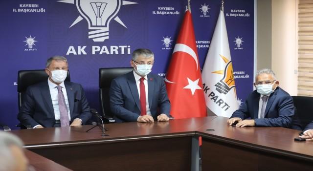 Başkan Büyükkılıç, Bakan Akar ile birlikte Cumhurbaşkanı Erdoğanın bayramlaşma programına katıldı