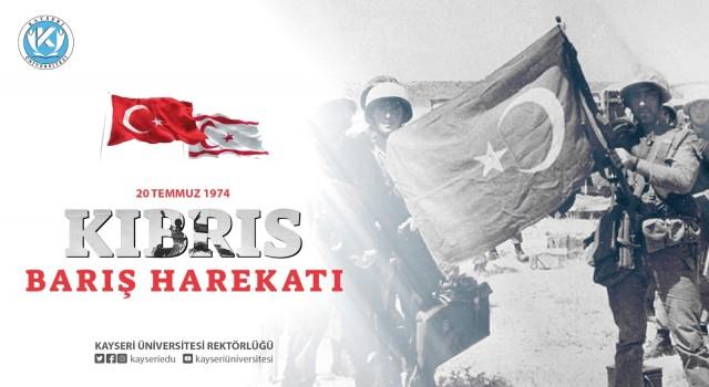 """Karamustafadan """"Kıbrıs Barış Harekâtının 47. Yıldönümü"""" Mesajı"""