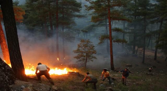 Yahyalıdaki orman yangını devam ediyor