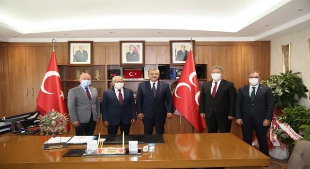 Belediye başkanlarından İncetopraka ziyaret