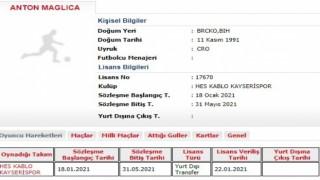 Kayserisporda Anton Maglicanın lisansı çıktı