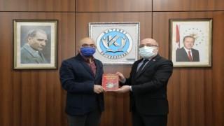 Erciyes A.Ş. Yönetim Kurulu Başkanı Cıngı, Rektör Karamustafayı Ziyaret Etti