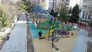 Melikgazinin parklarında çocuklar çok mutlu