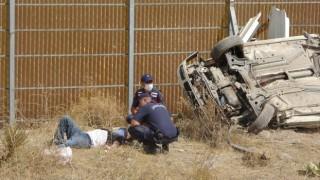 Kayseride otomobil şarampole yuvarlandı: 3ü ağır, 5 yaralı