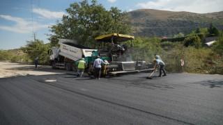 Melikgazide asfalt çalışmaları devam ediyor