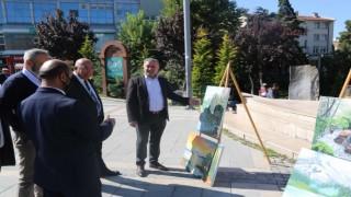 Ressam imamın sergisi Cami Ve Din Görevlileri Haftasına renk kattı